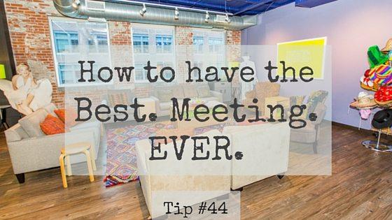 Best Meeting Ever Tip #44: DIY Ice Breaker Exercise